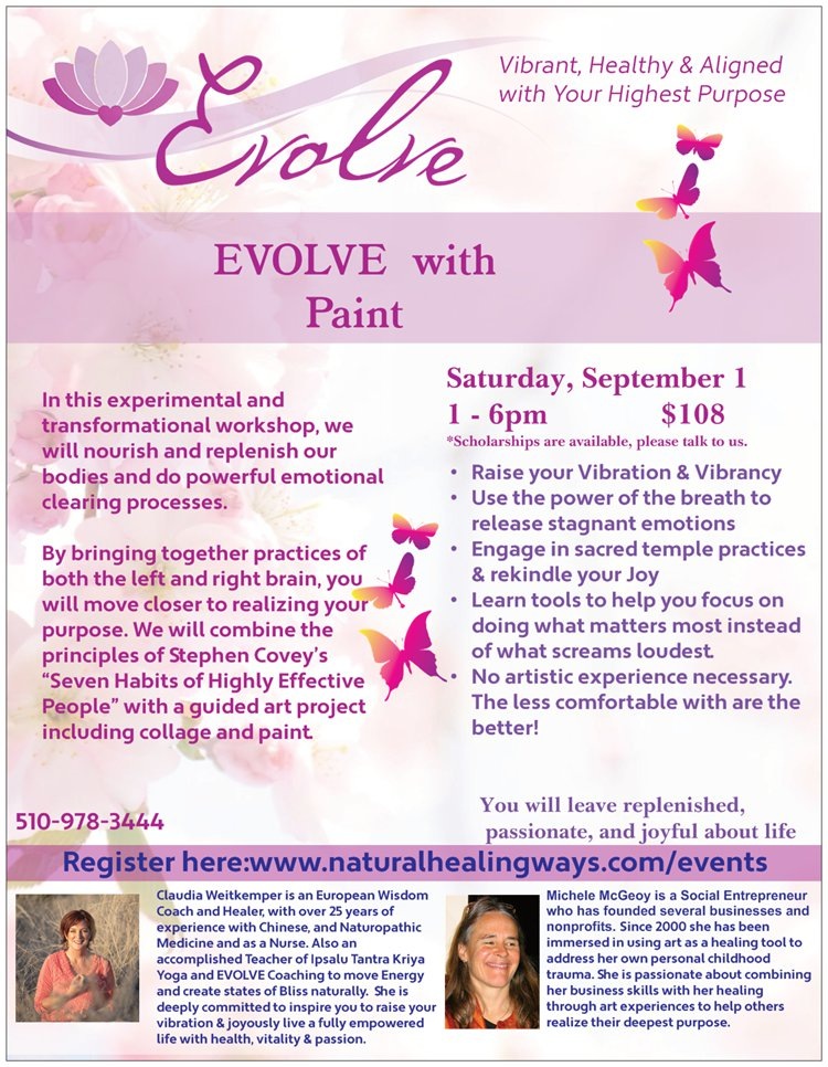 EVOLVE with Paint - Sep 1 2018 @ Private residence in El Cerrito - address given upon registration