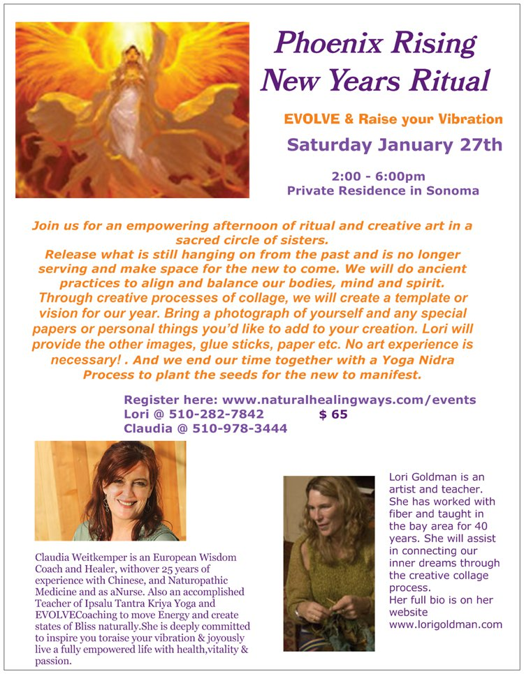 Phoenix Rising New Year's Ritual - January 27, 2018 @ Private residence in Sonoma